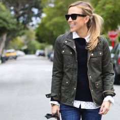 """J. Crew Downtown Field Jacket J. Crew water-resistant waxed cotton with military-inspired pockets and snaps. Body length 25"""", sleeve length 33 1/8"""", hits at hip. Fits true to size and machine washable J. Crew Jackets & Coats"""