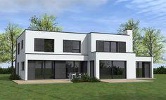 Constructions de maisons cubiques clés en main par POUWELS AB Architecteurs : La conception d'un architecte et la sécurité d'un contrat de construction.