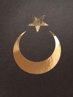 Star and crescent moon. Islam symbol. The moon represents ...