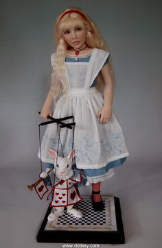 *ALICE in WONDERLAND ~ 29th Anniversary Doll Show 2011, POLYMER CLAY.