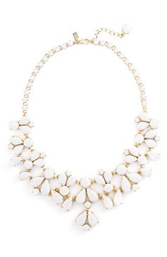 kate spade new york 'fiorella' floral bib necklace