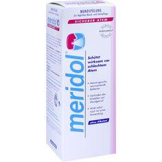 MERIDOL sicherer Atem Mundspülung:   Packungsinhalt: 400 ml Lösung PZN: 11141436 Hersteller: CP GABA GmbH Preis: 6,67 EUR inkl. 19 %…