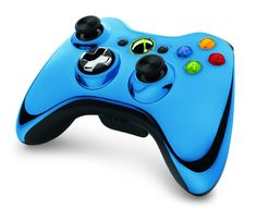 Outshine the competition with the Xbox 360 Special Edition Chrome Series Wireless Controller, available now in silver, red, or blue at participating. Consoles, Xbox Accessories, Microsoft, Xbox 360 Controller, Xbox Console, Xbox 360 Games, Gaming Setup, Xbox One, Playstation