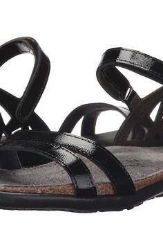 Naot Footwear Bonnie (Black Luster Leather) Women's Sandals - Naot Footwear, Bonnie, 7403-B96, Footwear Open Casual Sandal, Casual Sandal, Open Footwear, Footwear, Shoes, Gift - Outfit Ideas And Street Style 2017
