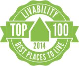FREDERICK, MD IS RATED #41 by Livability.com as ONE OF THE TOP 100 PLACES TO LIVE IN AMERICA.   (2014 Top 100 Best Places to Live | Livability.com)