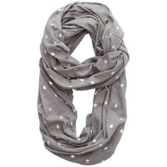 Aerie Shine Dot Loop Scarf (14 AUD) ❤ liked on Polyvore featuring accessories, scarves, slab grey, american eagle outfitters, gray infinity scarf, circle scarf, gray scarves and loop scarf