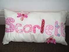 Made to order girls cushion perfect for birthdays & Christmas