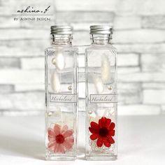 ◇空間静止◇ハーバリウム「Rebecca」全3色 Healing Herbs, Salts, Mason Jars, Glass Vase, Flora, Resin, Bottle, To Sell, Flask