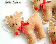 PDF Felt Christmas Ornaments/Felt Christmas Decorations-Felt | Etsy