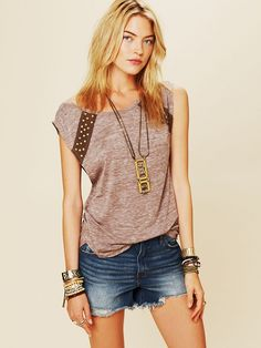 Free People Studded Back Lou Top, $29.95