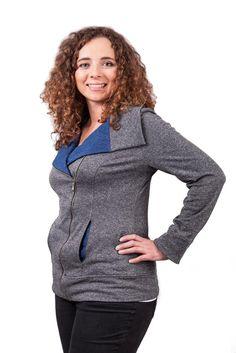 free pattern jacket with zipper