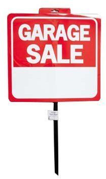 garage sale sign with pole Case of 48