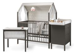 Explore our new nursery line, Stokke® Home™. Choose your preferred components from the product range, design your individual room setting and rearrange the modules as your baby grows.