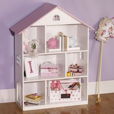 Dotty Dolls House Bookcase - Best Way to Paint Wood Furniture Check more at http://fiveinchfloppy.com/dotty-dolls-house-bookcase/