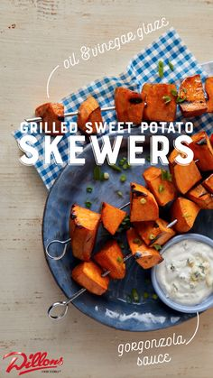 A clever take on traditional fries, these grilled sweet potato pieces taste even better dipped in a creamy Gorgonzola sauce. Fire up the grill and make them tonight with the complete recipe from Dillons.