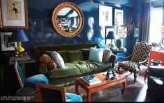 Walls...mirror...geometric chair....opium coffee table....get out of my head Miles Redd.