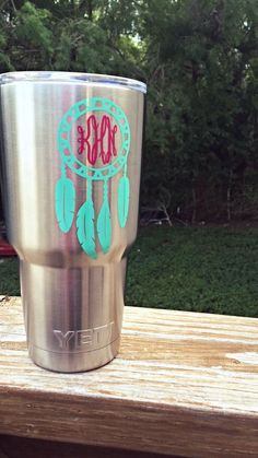 Monogrammed Stainless Tumbler All I Want For Christmas - Vinyl cup decals
