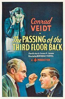 The Passing of the Third Floor Back. UK. Conrad Veidt, Anna Lee, Rene Ray, Frank Cellier, John Turnbull, Cathleen Nesbitt. Directed by Berthold Viertel. 1935
