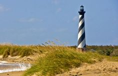 awesome pics: Hatteras Lighthouse is located on the Outer Banks of North Carolina in the little vilage of Buxton, NC