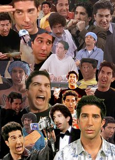 friends tv show, ross geller, funny collage Friends 1994, Serie Friends, Friends Moments, I Love My Friends, Friends Tv Show, Friends Forever, Funny Friends, Ross Friends, David Crane