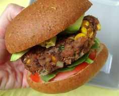And LIKED it! - Spicy Black Bean Burgers. Very good! It had a sriracha sauce in it that really gave it a full bodied flavor!