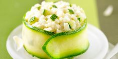 Risotto aux courgettes Salmon Risotto, Vegetarian Recipes, Healthy Recipes, Pasta, Italian Recipes, Food Inspiration, Love Food, Entrees, Cucumber