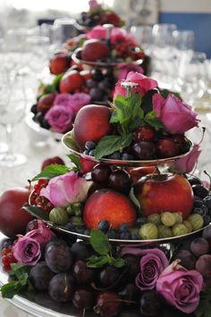 Super Fruit Decoration Ideas For Wedding Decor 36 Ideas Fruit Decorations, Decoration Table, Wedding Decorations, Fruit Centerpieces, Elegant Centerpieces, Centrepieces, Fruit Tart, Fruit Fruit, Fruit Salad
