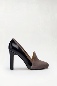 MASSIMO DUTTI COURT SHOE WITH SUEDE VAMP
