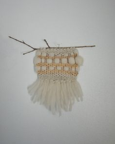 love this one!!!!    Mini Hand Woven Wall Hanging / Textile Art  Cream by MARSTORE, $10.00