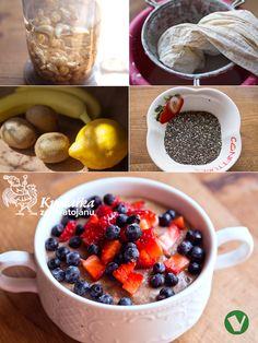 CHIA PUDING z kešu Chia Puding, Oatmeal, Breakfast, Food, The Oatmeal, Morning Coffee, Meals, Yemek, Rolled Oats