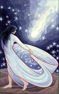 Arianrhod (ah-ree-AHN-rhohd), Arian meaning 'silver', and Rhod meaning 'wheel' or 'disc'. Celtic Moon-Mother Goddess. Called the Silver Wheel that Descends into the Sea. Daughter of the Mother Goddess Don and her consort Beli. She is ruler of Caer Sidi, a magical realm in the north. She was worshiped as priestess of the moon.