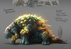 Ganodermic Behemoth, Boss of the Polypore Dungeon, fan art