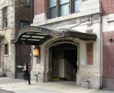NJ Path Train Station entrance on Christopher Street, Greenwich Village, NYC