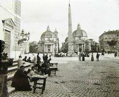 piazza del popolo Un'immagine del 1890.