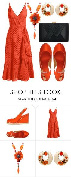 """Burnt orange"" by audreybrookezaring ❤ liked on Polyvore featuring Castañer, Trina Turk, Marina Fossati and La Regale"