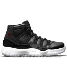 Men s Air Jordan 11 Retro 72-10 Black Gym Red-White-Anthracite Authentic a2fd56b36