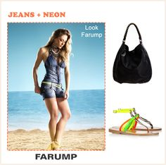Confira o look do dia da Farump que aposta na combinação jeans + neon!