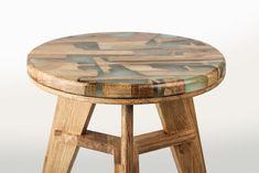 Zero Per Stool - bancos feitos de resíduos de madeira e resina - upcycling