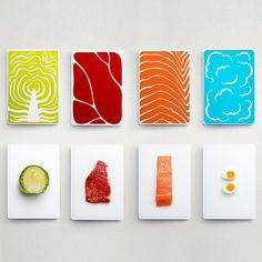 Slice Cutting Board Set - I would hang it as wall art pieces in my kitchen Graphisches Design, Food Design, Layout Design, Food Graphic Design, Cut Out Design, Typographie Fonts, Diy Cutting Board, Design Graphique, Grafik Design