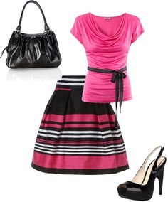 Just love pink and black!