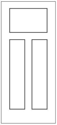 craftsman iii primed 3 panel smooth door