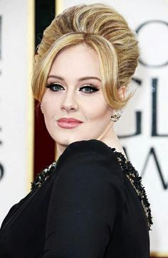Top 10 Best Dressed Female Musicians with a Knack for Adele Half Updo, Adele Makeup, Flawless Makeup, Hairstyles With Bangs, Adele Hairstyles, Hairstyle Ideas, Bangs Hairstyle, Latest Hairstyles, Big Hair