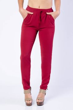 Must Have Drawstring Woven Pants