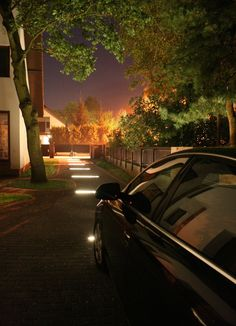 This outdoor aluminum extrusion is a great housing for your LED strip lights. Perfect for mounting to different types of pavements, sidewalk surfaces, bike lanes, parking lots, etc. Driveway Lighting, Entrance Lighting, Deck Lighting, Exterior Lighting, Landscape Lighting, Strip Lighting, Lighting Design, New Zealand Architecture, Driveway Design