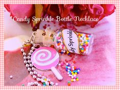 Candy Sprinkle Necklace Super Sweet Sprinkle n by tranquilityy