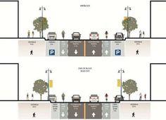 Resultado de imagen para road section design