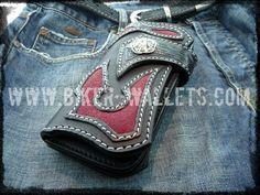 """""""Scythe"""" 8"""" Custom Handmade Stingray Men's Biker Wallet"""