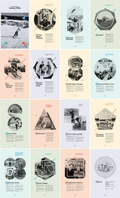 16 posters for an exhibition about Johanne Kolstad, a woman who broke taboos about women in sports. Ski Jumper world record. Valdres Folk Museum in Norway. a project done for: Velour design. Web Design, Book Design, Layout Design, Design Art, Print Design, Design Poster, Graphic Design Branding, Brochure Design, Typography Design