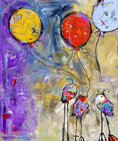 """Jenny Foster - Paintings Don't Forget to Play 36.5""""x41.5"""" Acrylic & Oil 