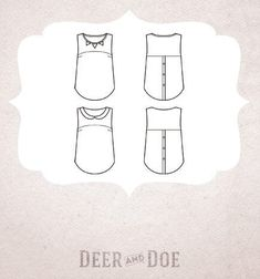 nom d'une couture ! blouse datura pastèque tropical deer and doe